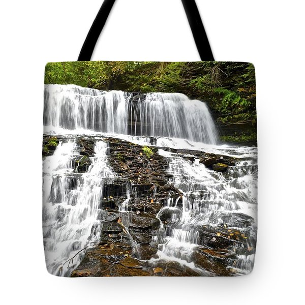Mohawk Falls Tote Bag by Frozen in Time Fine Art Photography