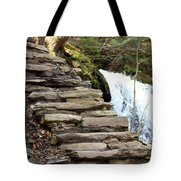 Mohawk Falls Steps Tote Bag by Patti Whitten
