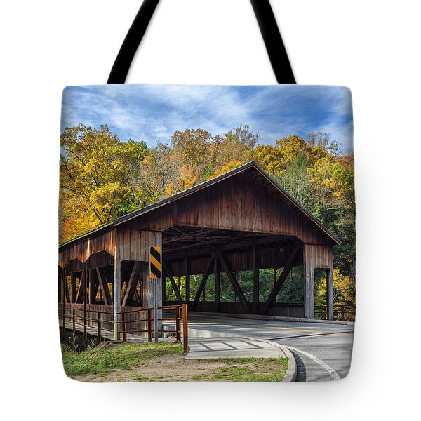 Mohican Covered Bridge Tote Bag