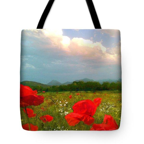 Mohnblumen  Tote Bag