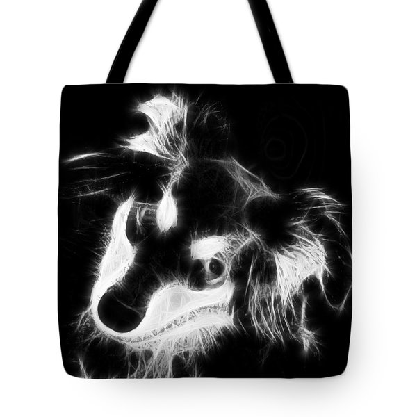 Moja - Black And White Tote Bag by Marlene Watson