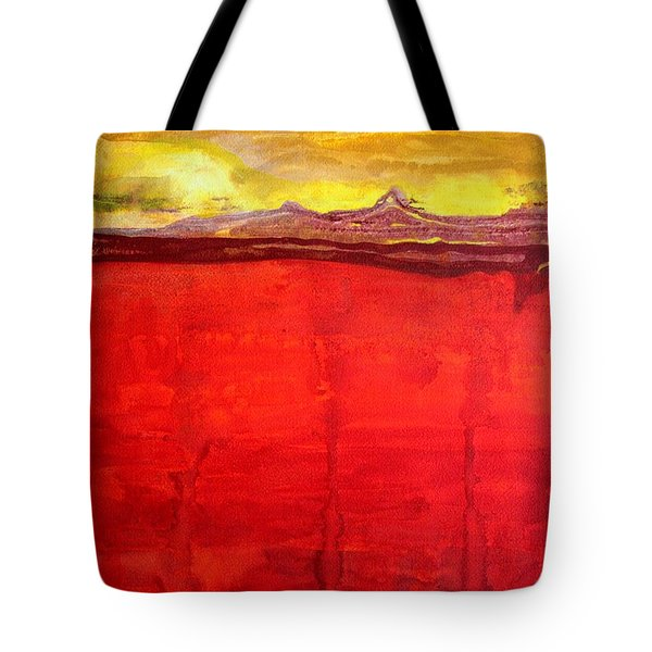 Mojave Dawn Original Painting Tote Bag by Sol Luckman