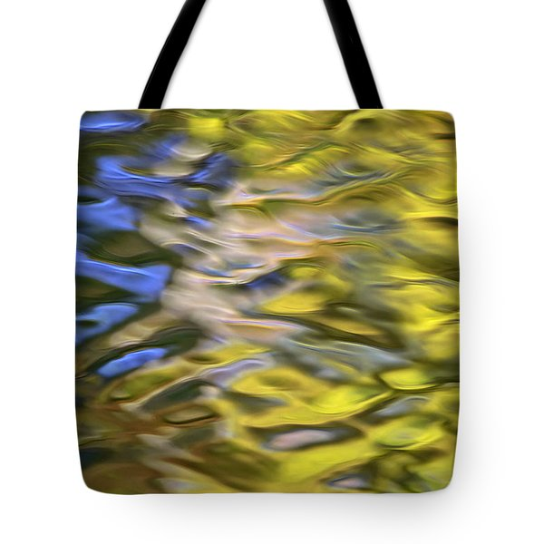 Mojave Gold Mosaic Abstract Art Tote Bag by Christina Rollo