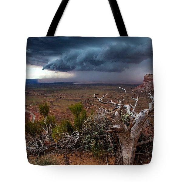 Moki Dugway Thunderstorm - Southern Utah Tote Bag