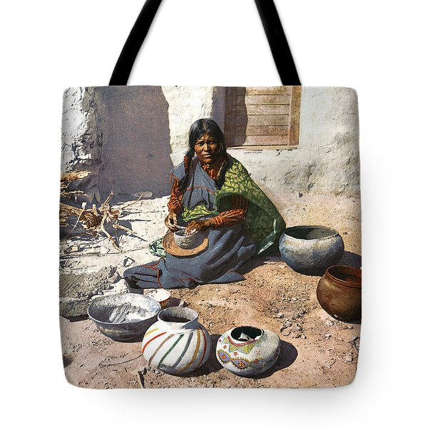 Moki Indian Potter 1899 Tote Bag by Unknown
