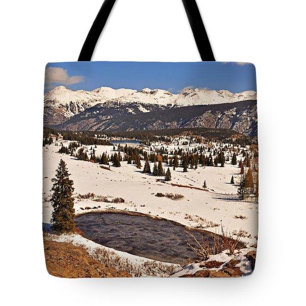 Molas Pass Winter Tote Bag