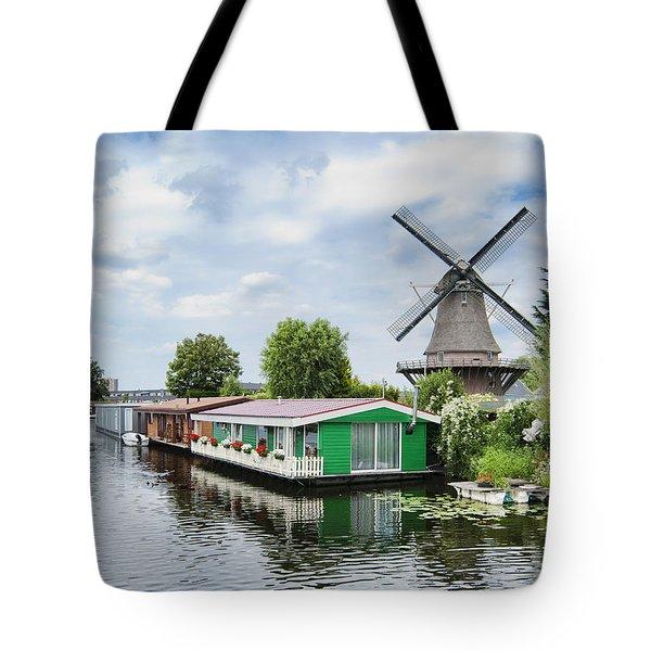 Molen Van Sloten And River Tote Bag