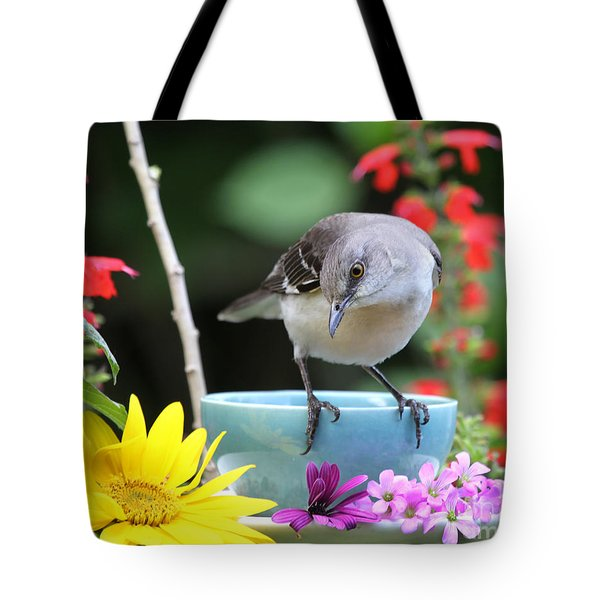 Mockingbird And Teacup Photo Tote Bag