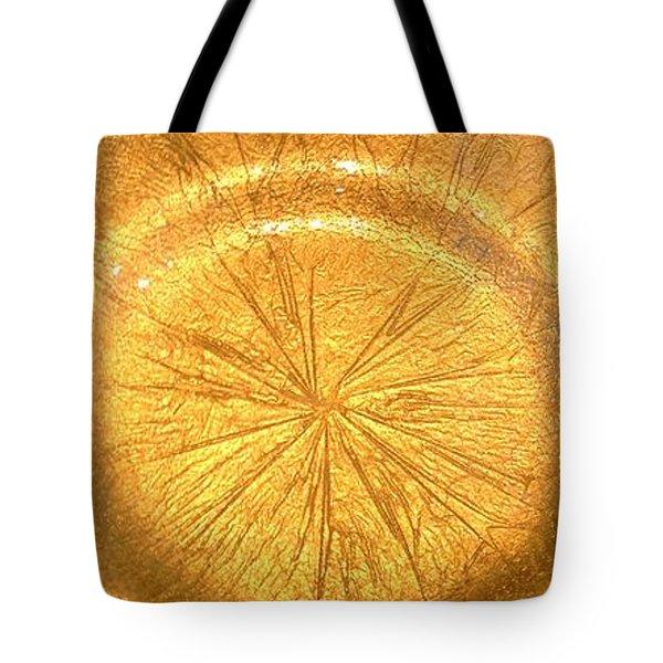 Molten Gold Bowl Sculpture Tote Bag by Rick Silas