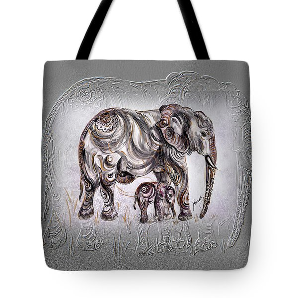 Mom Elephant Tote Bag