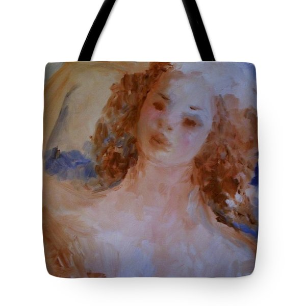 Tote Bag featuring the painting Mom Near Jupiter by Laurie L