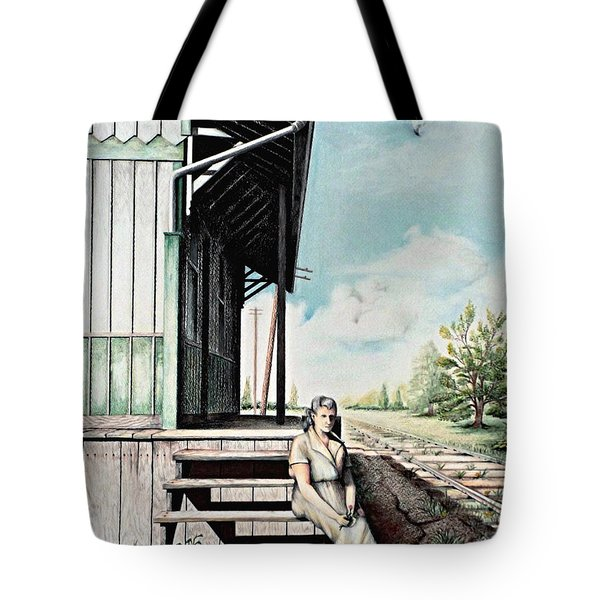 Mom With Rose Tote Bag
