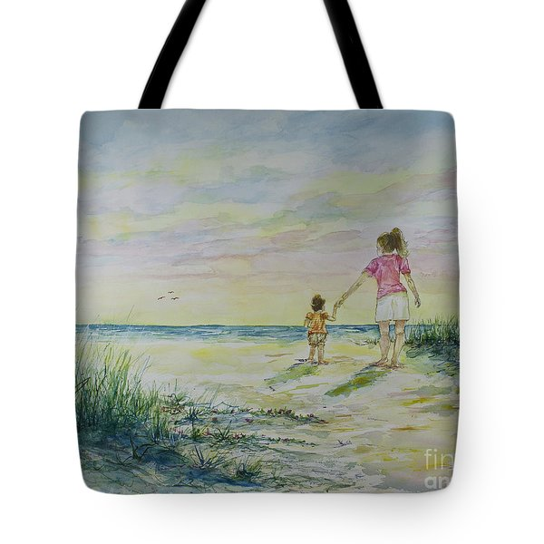 Mommy And Me At The Beach Tote Bag