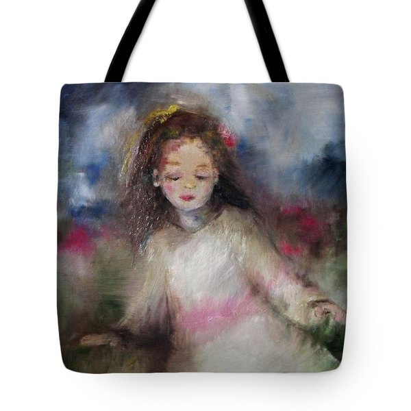 Tote Bag featuring the painting Mommy's Little Girl by Laurie Lundquist