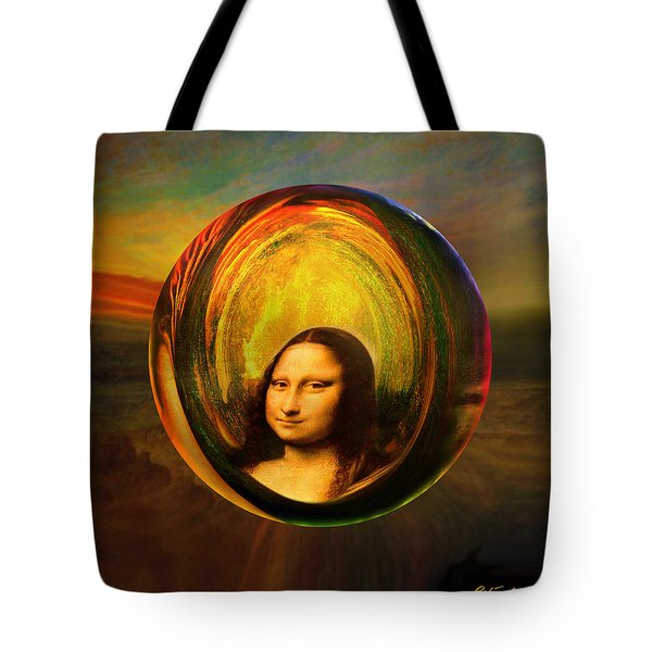 Mona Lisa Circondata Tote Bag by Robin Moline