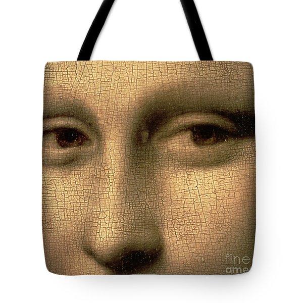 Mona Lisa    Detail Tote Bag by Leonardo Da Vinci
