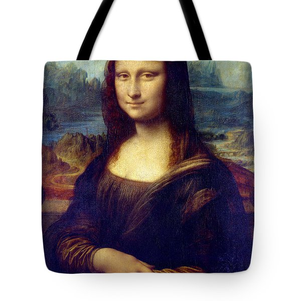Tote Bag featuring the painting Mona Lisa by Karon Melillo DeVega