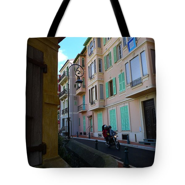 Monaco Alley Tote Bag