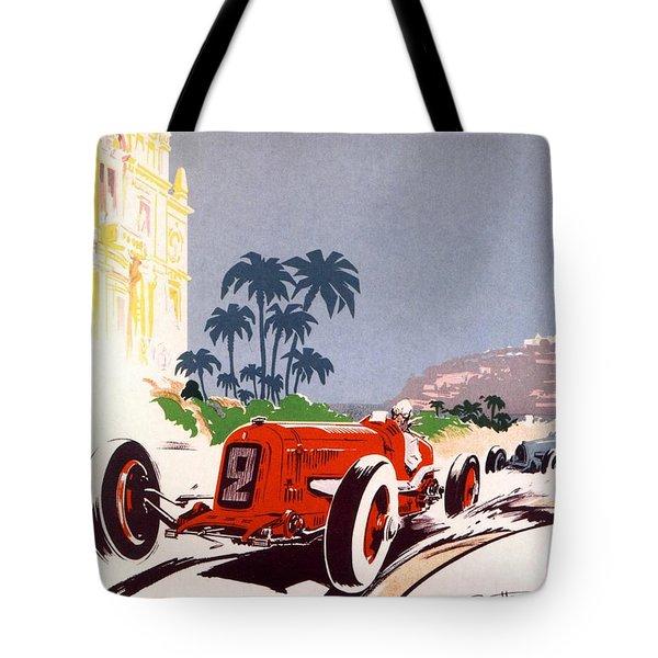 Monaco Grand Prix 1934 Tote Bag by Georgia Fowler