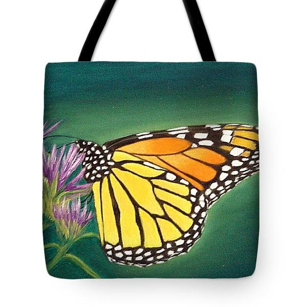 Monarch And Liatris Tote Bag