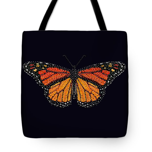 Monarch Butterfly Bedazzled Tote Bag