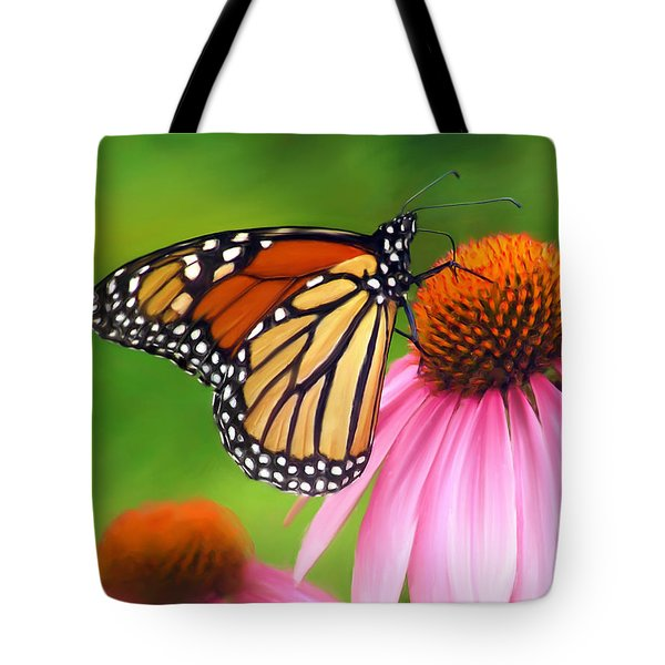 Monarch Butterfly Tote Bag by Christina Rollo
