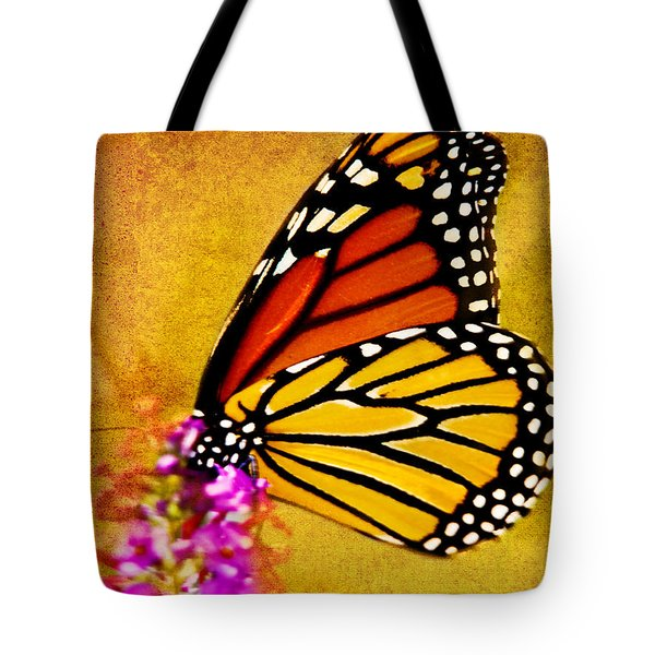 Monarch Butterfly Color Splash Sunset Tote Bag