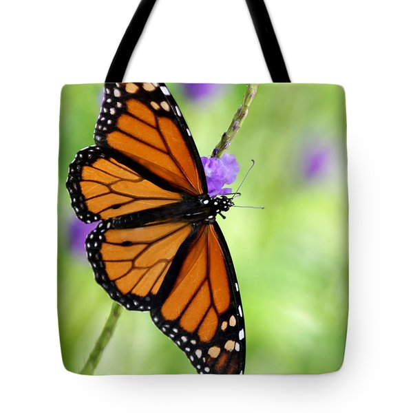 Monarch Butterfly In Spring Tote Bag