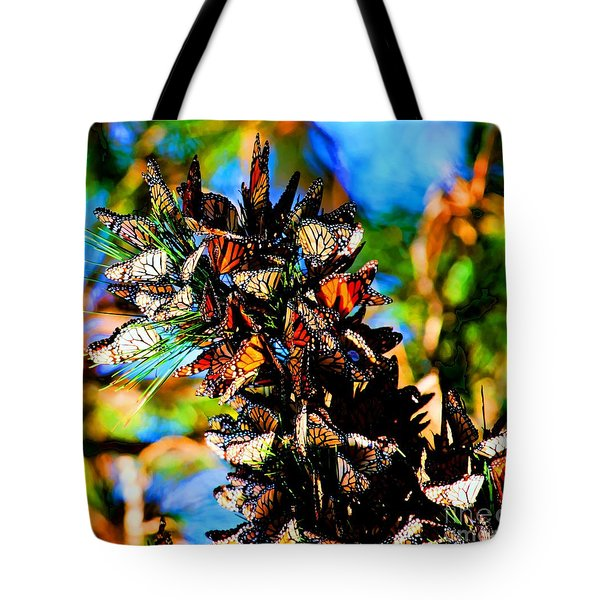 Monarch Butterfly Migration Tote Bag by Tap On Photo