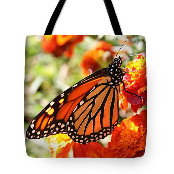 Monarch On Marigold Tote Bag