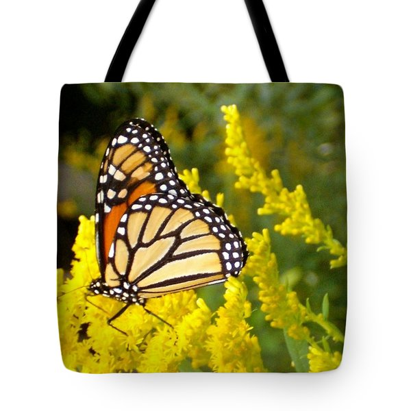 Tote Bag featuring the photograph Monarch by Sara  Raber