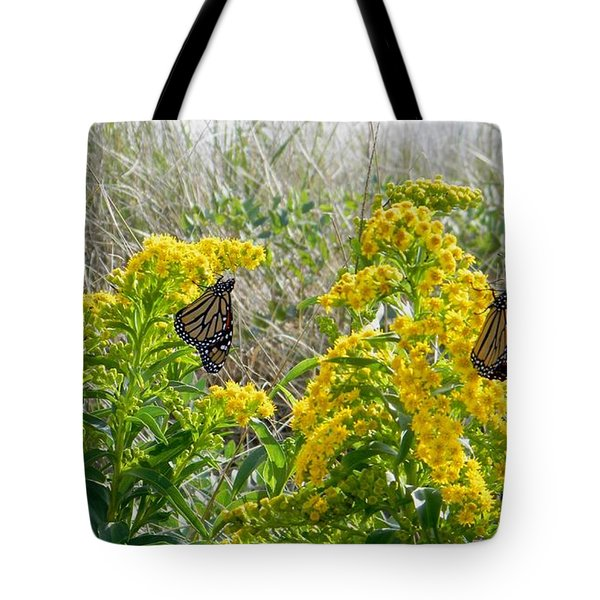 Monarchs On The Beach Tote Bag