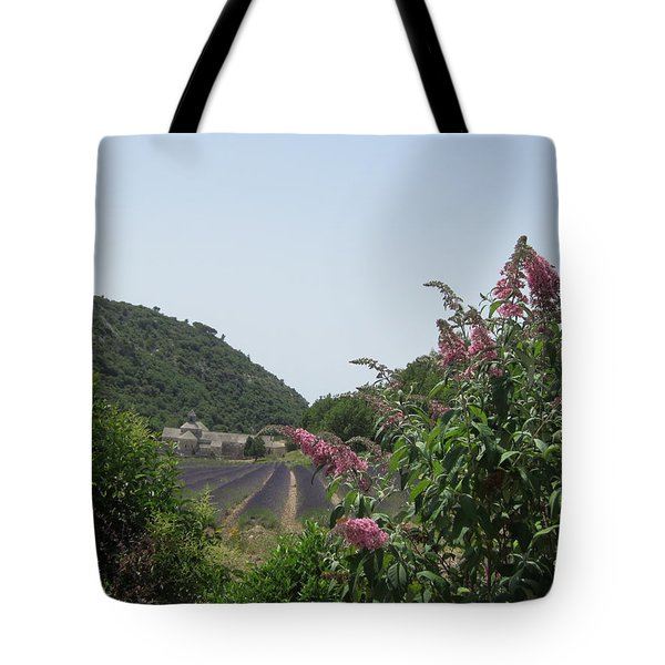 Monastery Lavender And Lilac Tote Bag by Pema Hou
