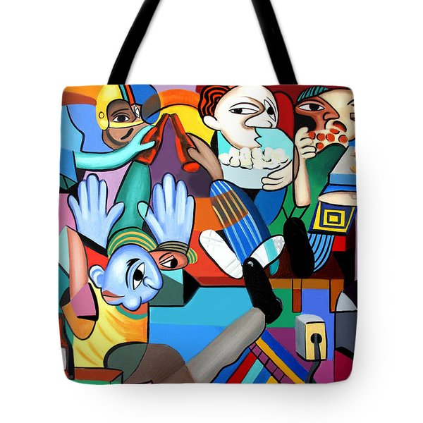 Monday Night Football Tote Bag by Anthony Falbo