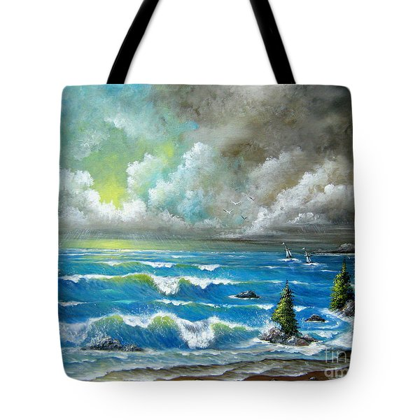 Tote Bag featuring the painting Sail At My Side by Patrice Torrillo