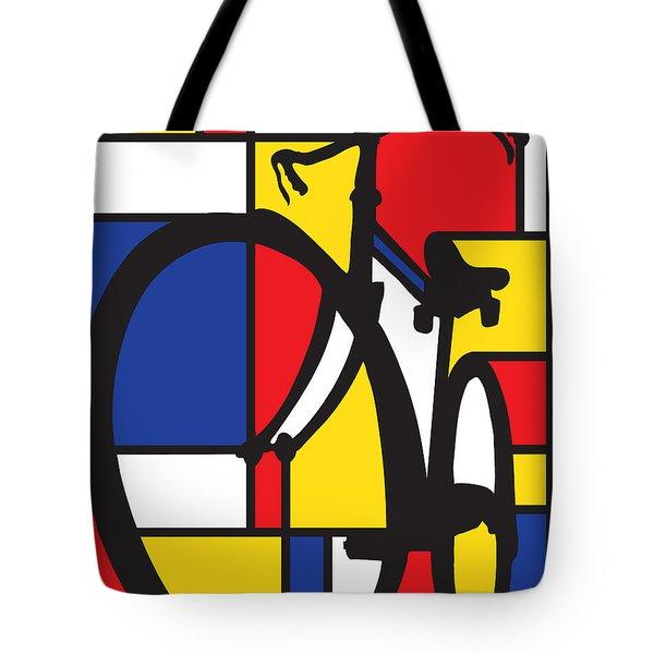 Mondrian Bike Tote Bag by Sassan Filsoof