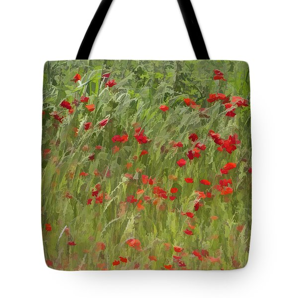 Tote Bag featuring the photograph Monet Poppies IIi by David Letts