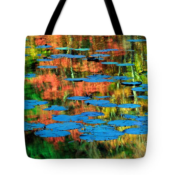 Monet Reflection Tote Bag by Inge Johnsson