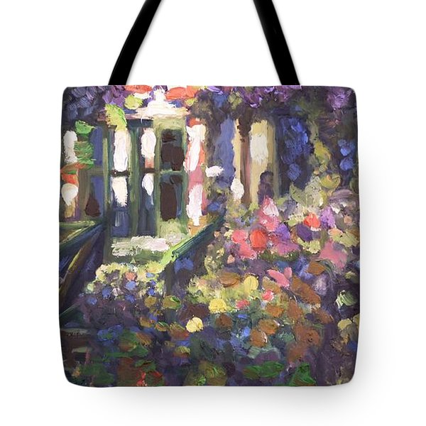 Monet's Home In Giverny Tote Bag by Donna Tuten