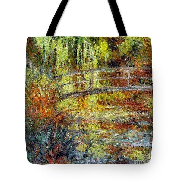 Monet's Japanese Bridge Tote Bag