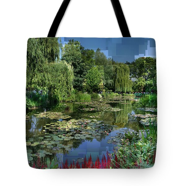 Monet's Lily Pond At Giverny Tote Bag