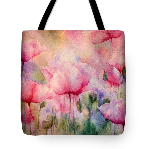 Monet's Poppies Vintage Warmth Tote Bag