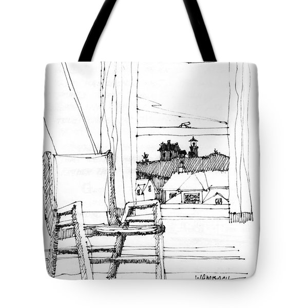 Monhegan Dawn Island Inn Tote Bag