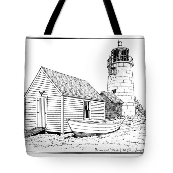 Monhegan Island Light Tote Bag