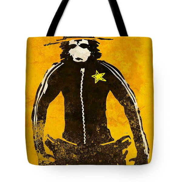 Monkey Sheriff Tote Bag by Pixel Chimp