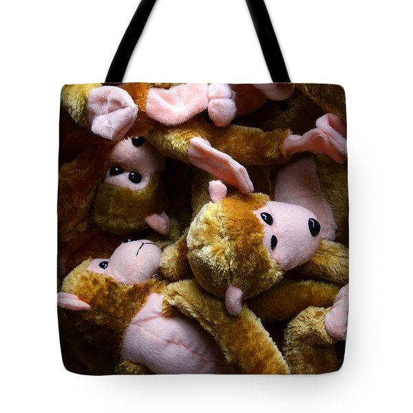 Monkeys Jumped On The Bed Tote Bag by Bob Christopher
