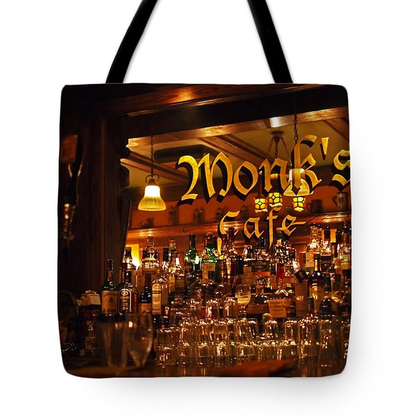 Monks Cafe Tote Bag