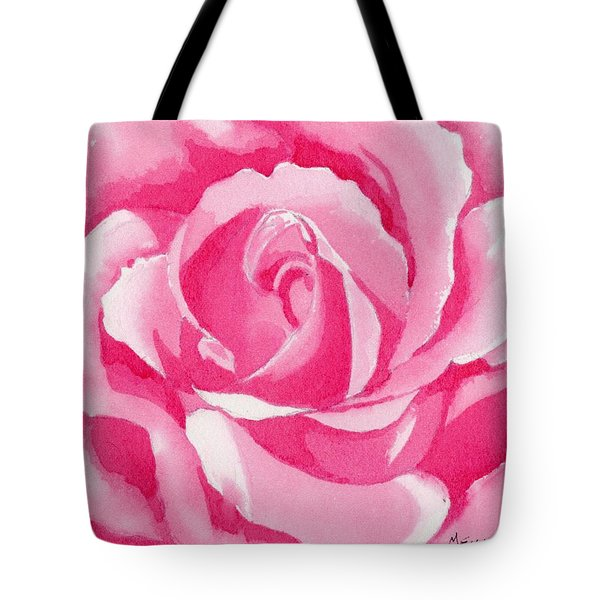 Monochromatic Rose Tote Bag