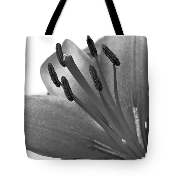 Monochrome Asian Lily Tote Bag