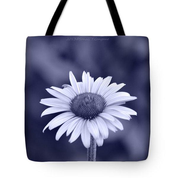 Monochrome Aster Tote Bag by Sonali Gangane